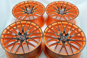 18 Orange Wheels Rims Accord Civic Camry Elantra Sonata Optima Fusion Tl 5x114 3