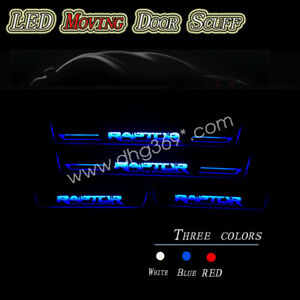 4pc Led Car Scuff Plate Pedal Door Sill Moving Lights For Ford Raptor 2010 2021