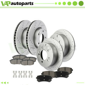 Slotted Front And Rear Brake Rotors Ceramic Pads For 2010 2013 Kia Forte Koup