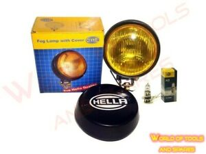 Hella Round Fog Lamp Yellow Glass Cover Pair With H3 12v 55 Bulb