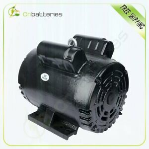 3 Hp Air Compressor Electric Motor 184t Frame 1750 Rpm Single Phase 16 8 15 0a