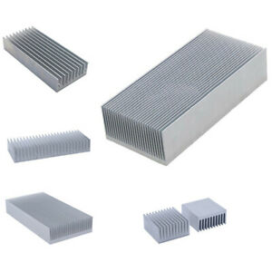 Mixed Size Aluminium Heat Sink Radiator Cooling Fin Silver For Cpu Led Power