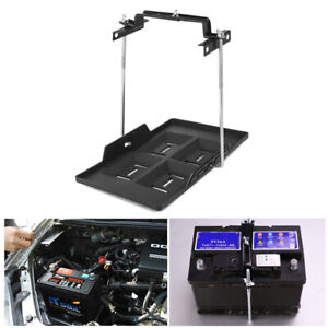 Adjustable Car Suv Storage Battery Holder Tray W Hold Down Clamp Bracket Tool