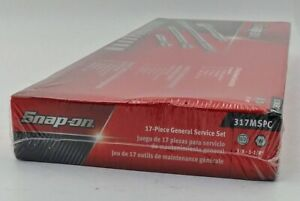 Snap on 317mspc 17 Pc 1 2 Drive 6 point Sae General Service Socket Set