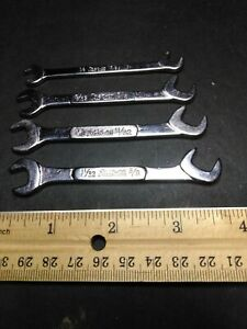 Vintage Snap On Ignition Wrench Set Collectible Classic Logo 4 Piece Set