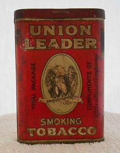 RARE UNION LEADER TOBACCO Pocket TIN Trial Package Compliments ofP.Lorillard Co