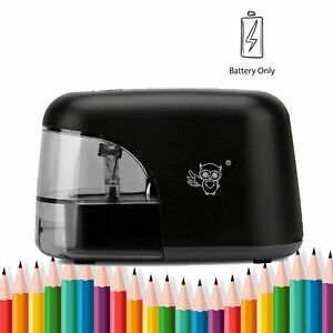 Electric Pencil Sharpener Automatic Sharpener Battery Power Black