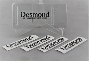 Desmond the Production Of Racing Wheel Regamaster Evo Decal 4x Stickers Set