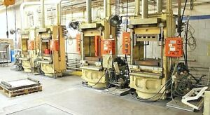 4 French Oil 452 Ton Ss Hydraulic Rubber Molding 4 Post Presses