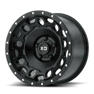 4 new 17 Xd Xd129 Holeshot Wheels 17x9 6x5 5 6x139 7 12 Satin Black Rims