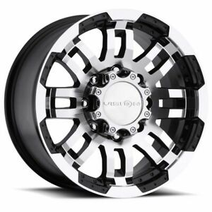 4 new 16 Vision 375 Warrior Wheels 16x6 5 5x130 45 Black Machined Rims Mags