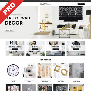 Wall Decor Store Dropshipping Business Premium Ecommerce Website For Sale