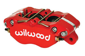 Wilwood Caliper Dynapro 5 25in Mount Stainless Red 1 38in Pistons 81in Disc