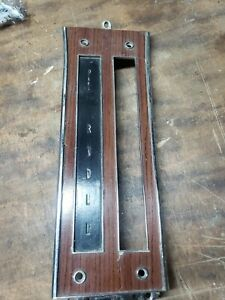 1965 Buick Riviera 3 Speed Automatic Floor Console Shift Plate