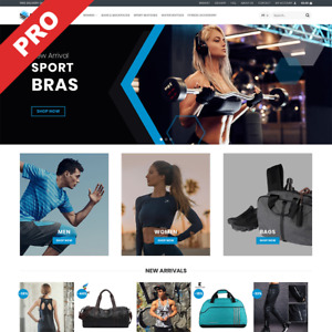 Sportswear Store Premium Dropshipping Store Fully Ready Business Website