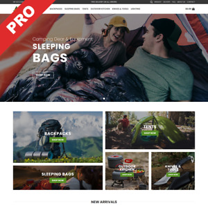 Dropshipping Camping Gear Store Premium Business Website For Sale
