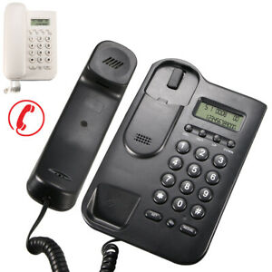 Desktop Landline Phone Home Office Wall Mounted Phone Corded Lcd Desktop Fast
