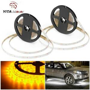 2x Yellow 5m 300 Led Strip Light 2835 Smd Boat Car Truck Decor Lights Yitamotor