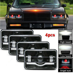 4pcs 4x6 Led Headlights Hi Lo Beam For Chevy C10 C20 C30 Camaro Ei C5500 Kodiak
