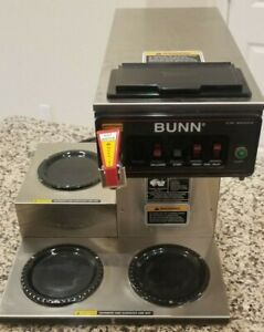 Bunn 12950 0212 Cwtf15 12 Cup Automatic Coffee Brewer 3 Warmers 3 Decanters