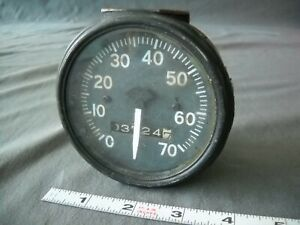 Vintage Willys Jeep Speedometer Army 1946 70mph Wwii For Parts Or Display