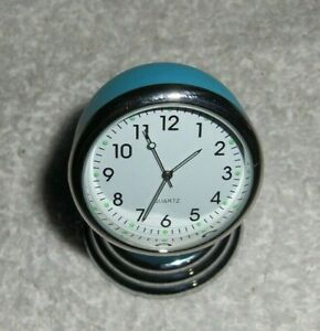 Original Vtg Style Chevy Ford Vw Split Window Blue Dash Magnet Clock 50s 60s70s