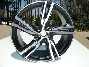16 20 Volvo Xc90 22 Matt Black Machined Face Wheel Oem Rim 9x22 5 Split Spoke