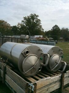 Used 250 Gallons Stainless Steel Tank