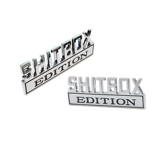 2pc Shitbox Edition Emblem Decal Badges Stickers Fits Ford Chevy Car Truck