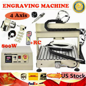 800w 4axis 3040 Cnc Router Engraver Drilling Milling Engraver Machine controller