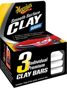 Meguiars Smooth Surface Clay Bar Pack Of 3 G1117