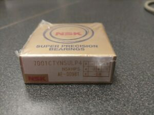 Nsk 7001ctynsulp4 Precision Angular Contact Bearing 15 Degree Contact Angle new
