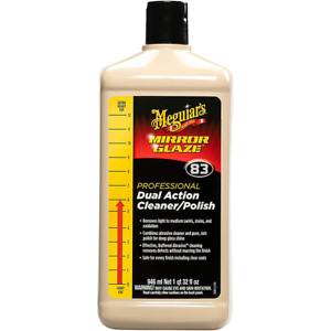 Meguiar s Mirror Glaze Professional Dual Action Cleaner polish M8332 32 Oz