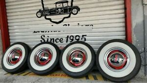 15 Wheels Tyre 3 Wide Whitewalls Port A Wall Set Pack Of 4 West Coast Hot Rod
