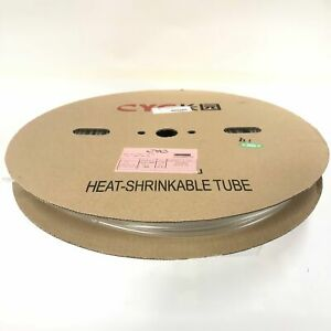 Thermosleeve Cyg Hst316330 Clear 3 16 2 1 Heat Shrink 330 Foot Roll