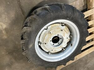 2 9 5 24 Ag Tires Rims With Wheel Weights 6 Lug 5 Center Hole 6 1 2 C c