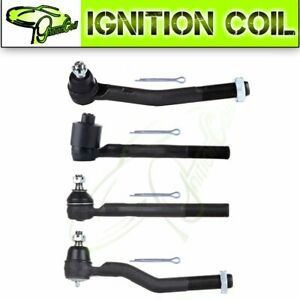 For Jeep Grand Cherokee Set 4 Front Inner Outer Tie Rod End Links Kit 1999 2004