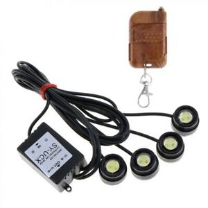4 In1 White Eagle Eye Led Car Suv Strobe Warning Grille Light Drl Remote Control