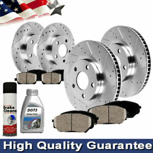 Front Rear Brake Rotors And Cerami For 2006 2007 2008 2014 Ford Mustang V6