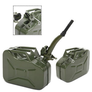 Jerry Can Metal Gas Tank Emergency Backup Gasoline Container W Spout 2 5 Gallon