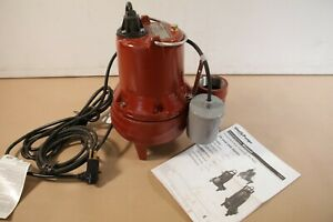 Liberty Pumps Le51a 1 2 Hp Submersible Sewage Pump Cast Iron W Float