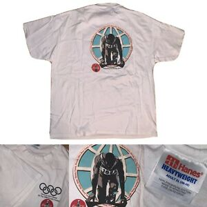 Vtg 90s Men's Hanes 1996 Olympic Games Track And Field Coca Cola T-Shirt XL A1