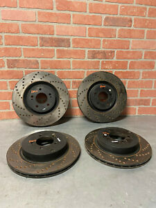 08 15 Mitsubishi Lancer Evo X Stop Tec Front Rear Drilled Rotors Evolution 10