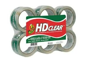 Heavy duty Packaging Paper Tape Refill 6 Rolls 1 88 X 54 6 Inches transparent