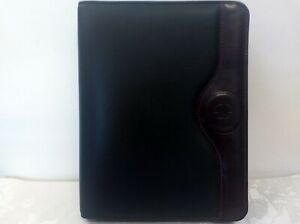 Franklin Covey Two tone Full Grain Leather Calf Skin Trim 7 ring Binder Planner