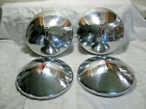 Vintage Early 70 S Complete Set Of 4 Pontiac Dog Dish Style Hub Caps Firebird