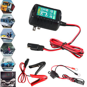 Stock 6v 12 Volt Trickle Battery Charger Maintainer Car Truck Motorcycle Mower