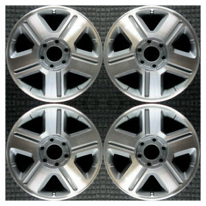 Set 2004 2006 2008 Chevrolet Trailblazer Ext Oem 17 Machined Wheels Rims 5179
