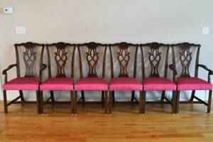 Drexel New Travis Court Carved 2 Dining Armchairs And 4 Side Chairs