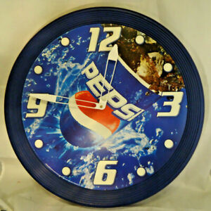PEPSI COLA CLOCK ROUND PLASTIC BATTERY POWERED LARGE 18 1/2
